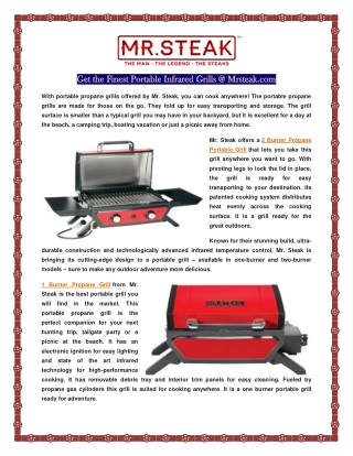Portable Infrared Grills