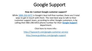 Google Support 1-888-264-6472 Google Service