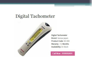 "Best & Reliable Online Leading Supplier Of ""Digital Tachometer"" In India"