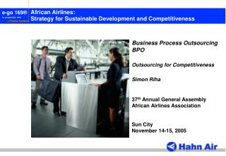 African Airlines: Strategy for Sustainable Development and Competitiveness