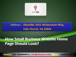 How Small Business Website Home Page Should Look?