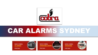A-Z of the Car Alarm System