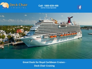 Great Deals for Royal Caribbean Cruises - Deck Chair Cruising
