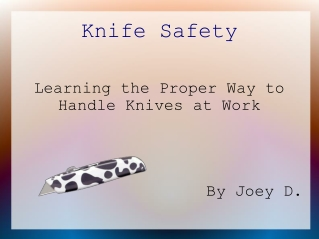 Knife Safety