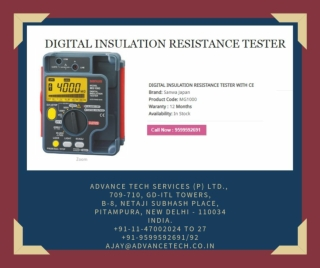 Buy Insulation Resistance Tester Online At An Economical Rate