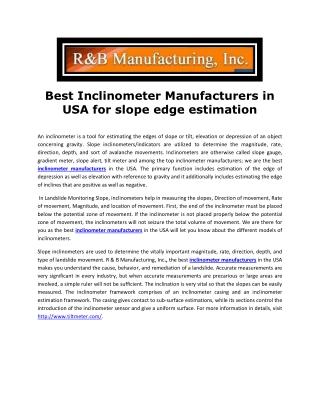 Inclinometer Manufactures