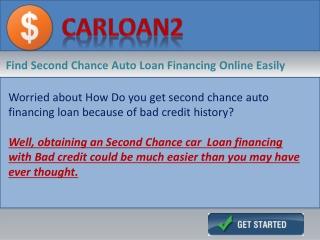 Second Chance Car Loan Financing