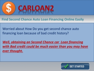 Second Chance Car Loan Financing