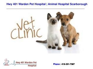 Veterinary Scarborough - Hwy 401 Warden Pet Hospital