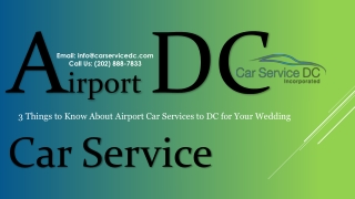 DC Airport Car Service