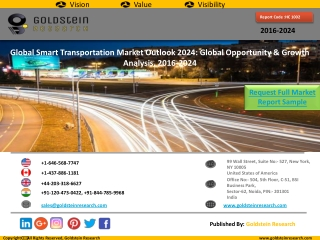 Smart Transportation Market Research Sample by Goldstein Research