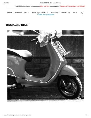 DAMAGED BIKE - Bike Injury Solicitors