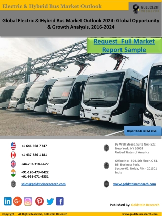 Electric & Hybrid Bus Market Research Report Sample by Goldstein Research