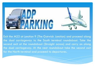 Gatwick Airport Valet Parking