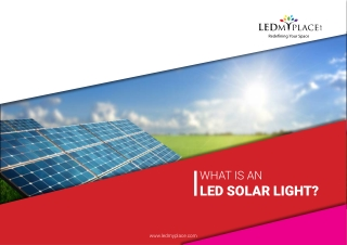 LED Solar outdoor lights: LEDMyplace