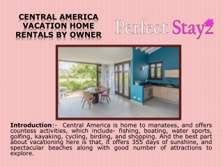 Central America Vacation Home Rentals by Owner