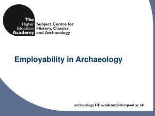 Employability in Archaeology