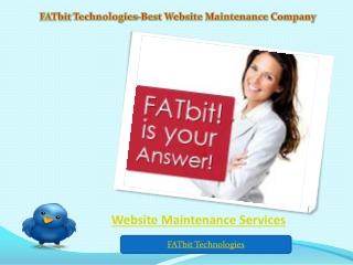 Website Maintenance Services Provider-FATbit Technologies