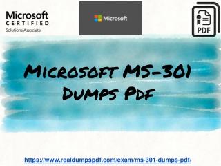 Microsoft MS-301 Dumps Pdf | Best MS-301 Exam Questions