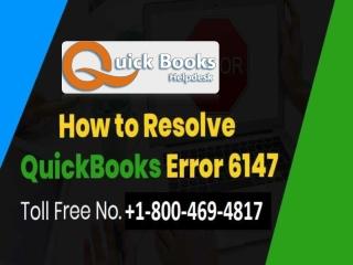 Solution QuickBooks web connector error 6147,0