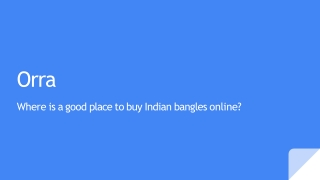 Where is a good place to buy Indian bangles online?