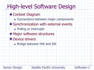 High-level Software Design