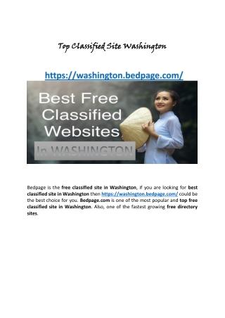 Top Classified Site Washington