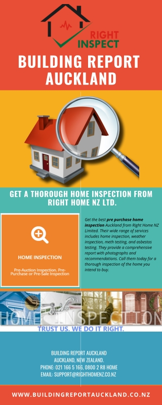 Get A Thorough Home Inspection From Right Home NZ Ltd