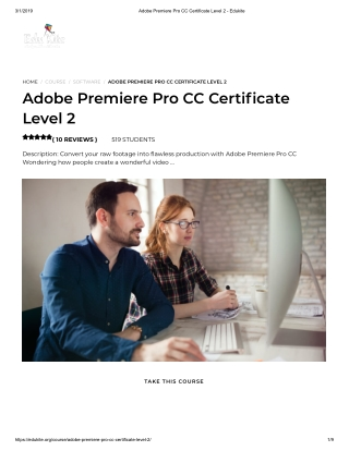 Adobe Premiere Pro CC Certificate Level 2 - Edukite