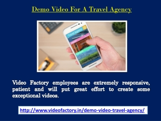 Demo Video For A Travel Agency