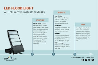 LED Flood Light will Delight you with its Features