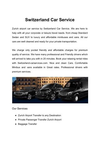 Switzerland Car Service