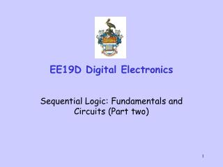 EE19D Digital Electronics