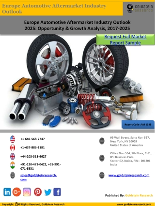 Europe Automotive Aftermarket Research Report Sample by Goldstein Research