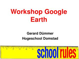 Workshop Google Earth