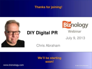 DIY Digital PR (Online Engagement & Blogger Outreach)