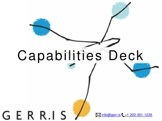 Gerris Capabilities Deck (Kitchen Sink Version)