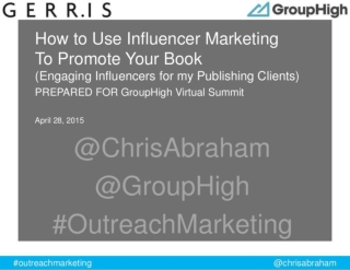 How to Use Influencer Marketing To Promote Your Book