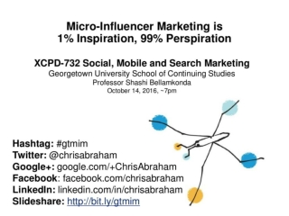 Micro-Influencer Marketing is 1% Inspiration, 99% Perspiration