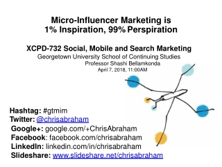 Micro-Influencer Marketing Presentation for XCPD-732