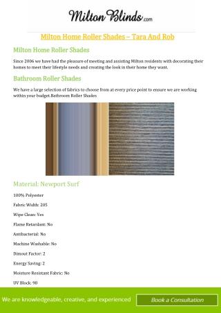 Milton Home Roller Shades - Tara And Rob