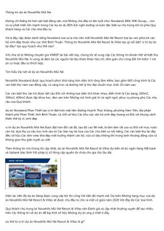 CEO phải chịu trách nhiệm chính vì Novahills Mui Ne Resort & Villas VNREP thắng?