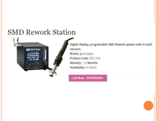 "Get ""Smd Rework Station"" At An Economical Rate"