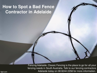 How to Spot a Bad Fence Contractor in Adelaide