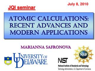 Atomic calculations: recent advances and modern applications