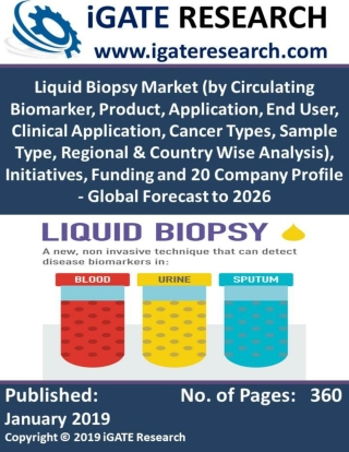 Liquid Biopsy Market (by Circulating Biomarker, Product, Application, End User, Clinical Application, Cancer Types, Samp