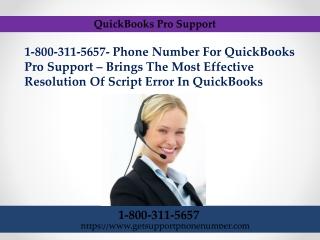 QuickBooks Pro Support 1-800-311-5657