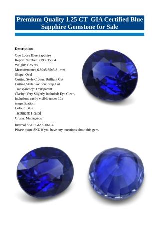 Premium Blue Sapphire Gemstone for Sale