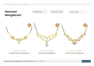 Latest diamond mangalsutra designs