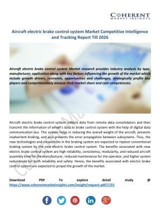 Aircraft Electric Brake Control System Market